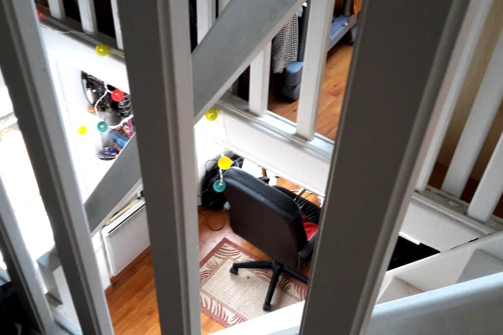 Mezzanine bureau/chambre dans une maison triplex - Saint-Denis - House