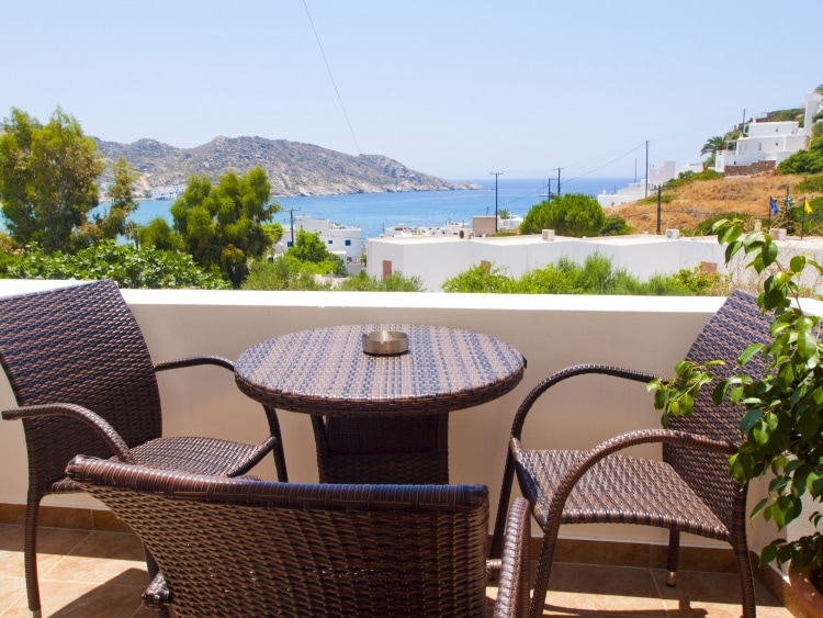Welcome to Mylopotas beach & to our studio with relaxing view of Aegean sea