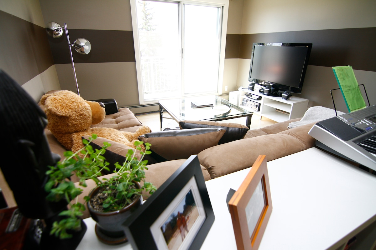 Bright, clean, and comfortable living space