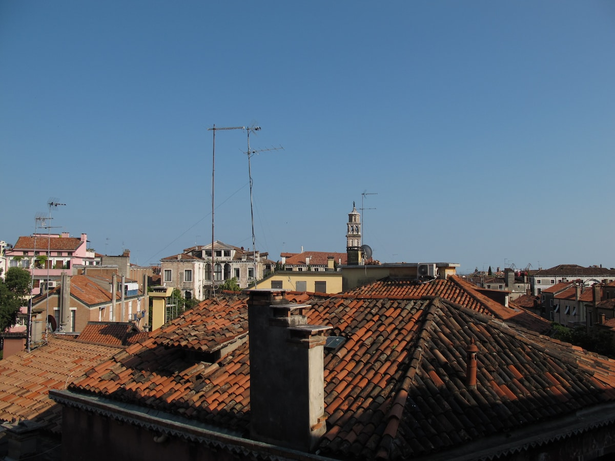 Venice view from the balcony