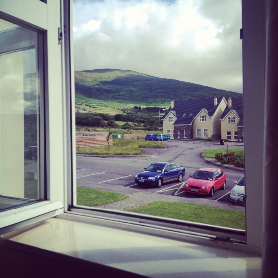 This is the view from the front bedroom.