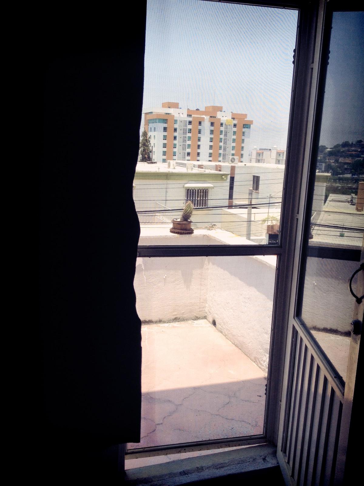 small balcony in the main room