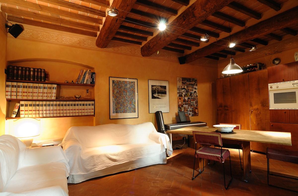 Apartment in 15th century building