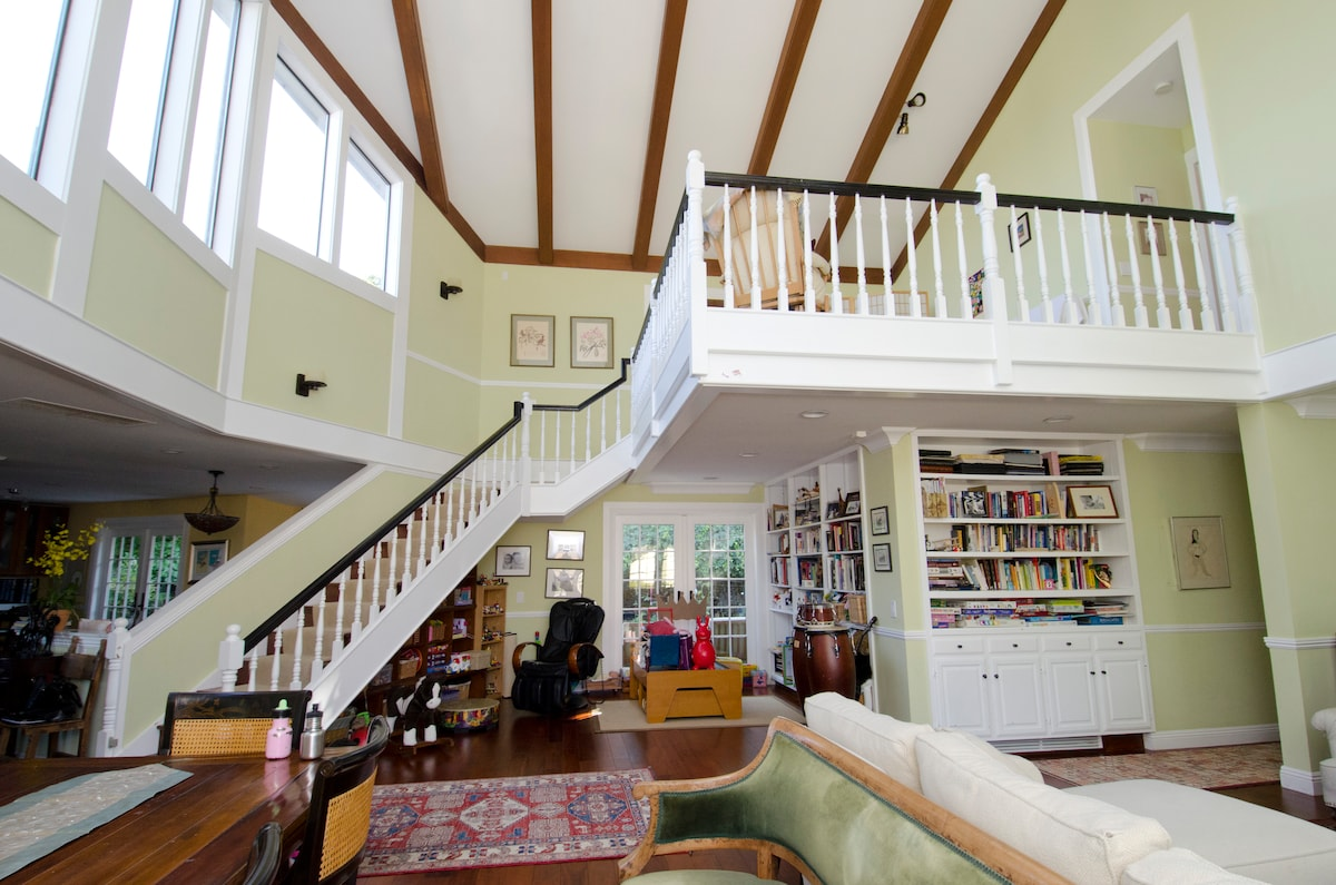 Loft View in San Mateo Family Home