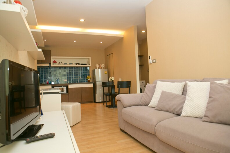 This very comfortable apartment is your home away from home.