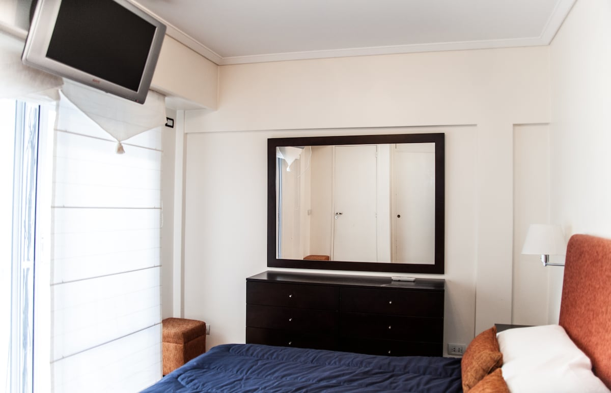 Very Spacious bedroom with LCD, cold/heat Air Conditioning, huge drawers, and natural SUN LIGHT!!!!