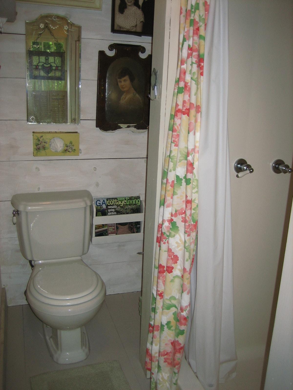 Fort Worth Guest Cottage Shower