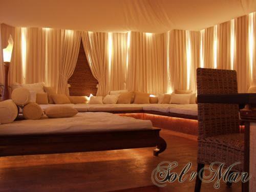 Das Sol y Mar ist auch für seinen individuellen Loungebereich international bekannt.