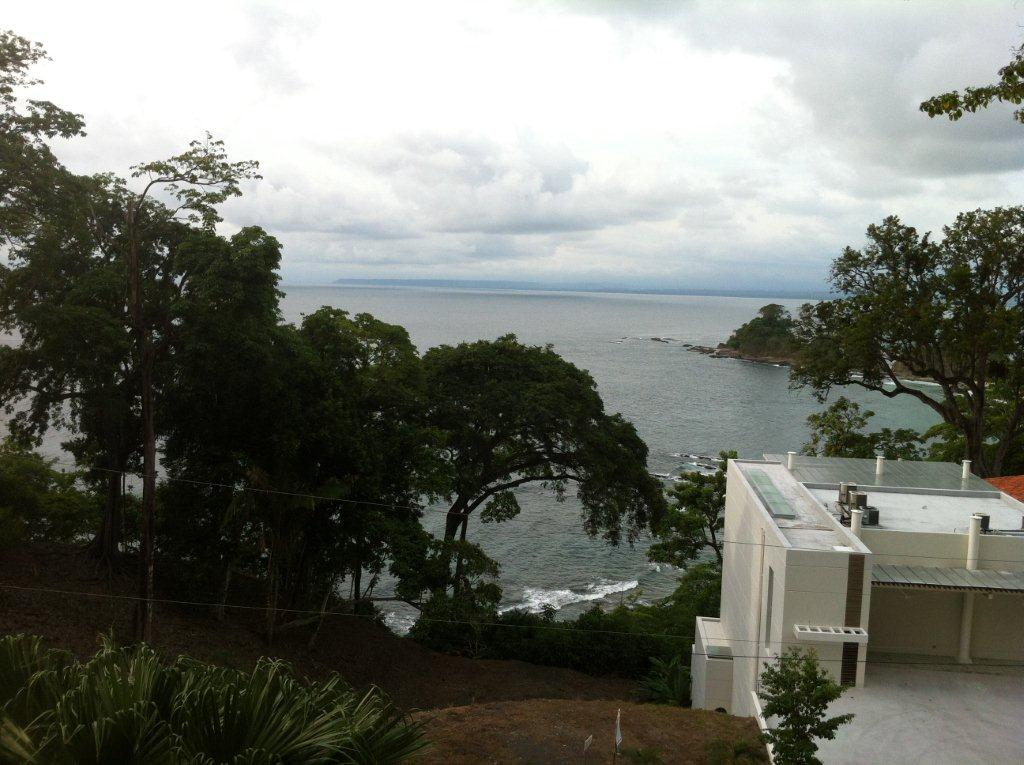 View from the far edge of the balcony. Below is Playa Blanca (a private beach open only to Punta Leona homeowners).