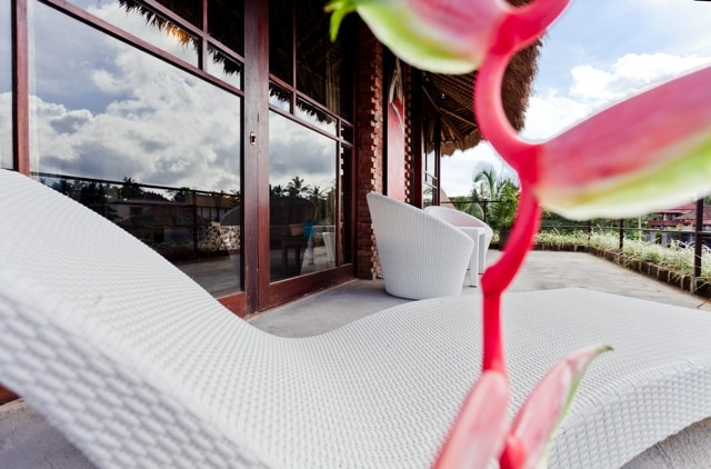 Sun bed on the private balcony with stunning views :)