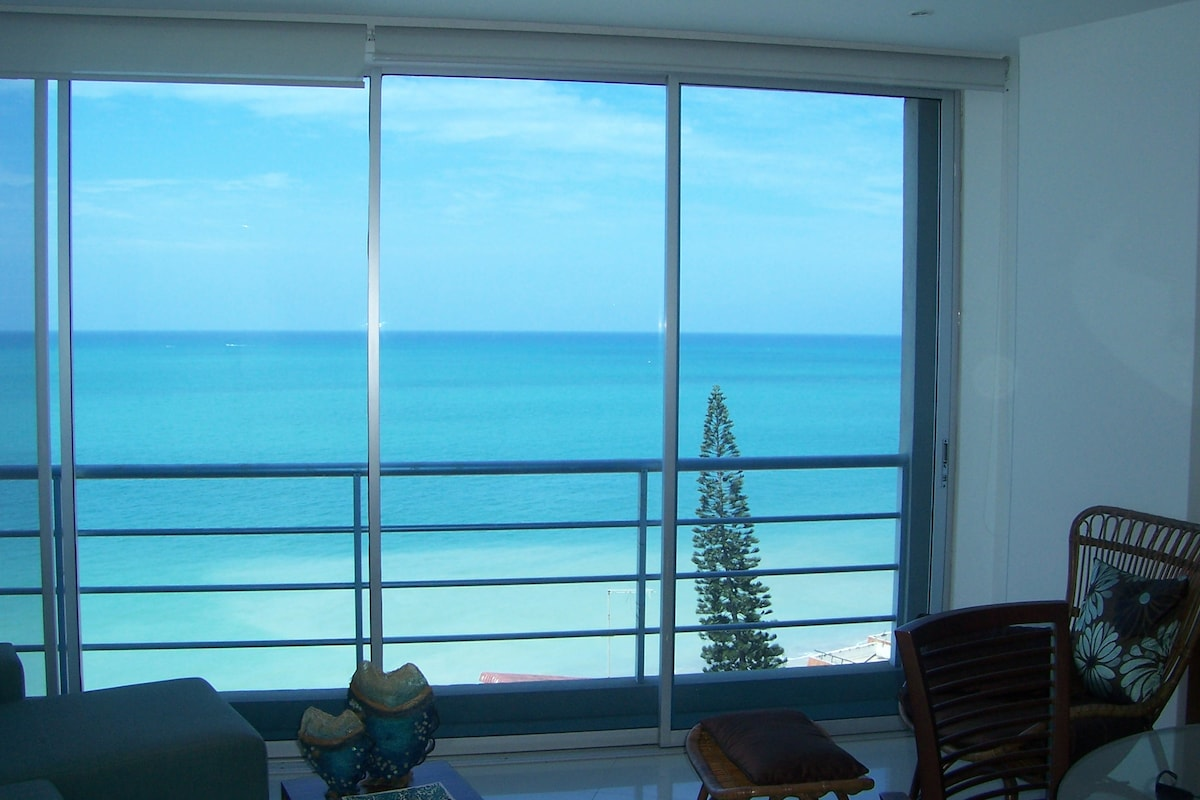 looking out from living room