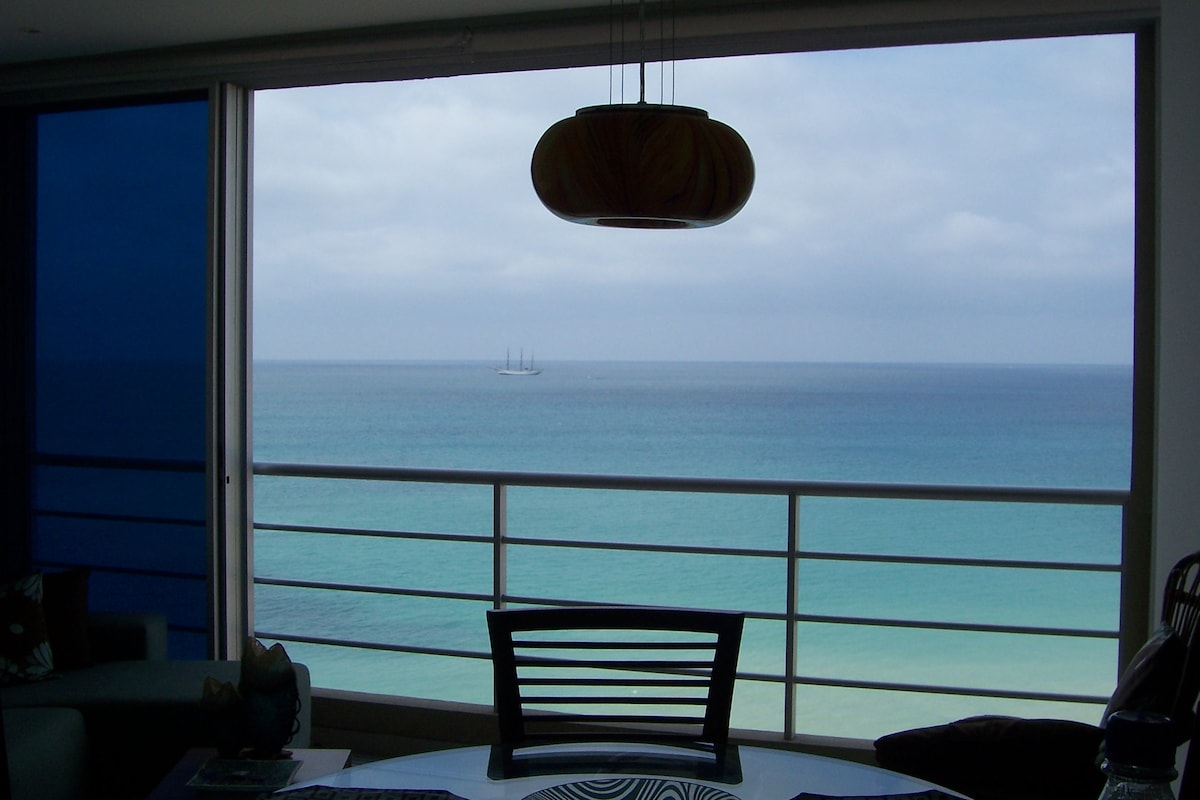 view from kitchen area