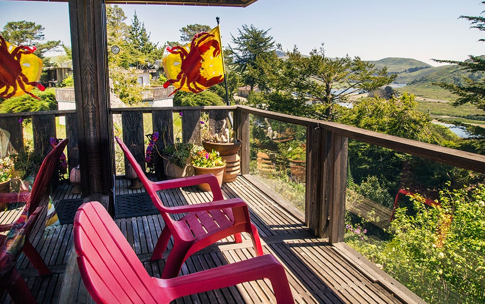This home has over 850 sq ft of multi-level decks all with river and ocean views.