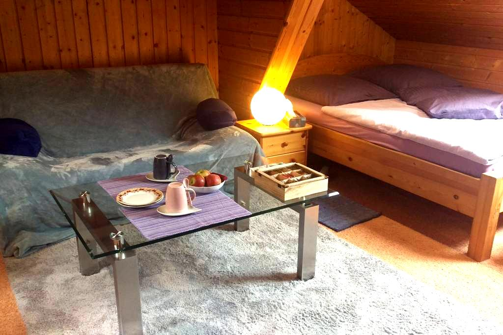 Wide double room nearby Nürnberg - Wendelstein - Adosado