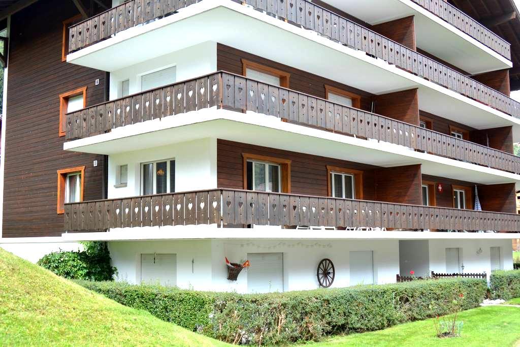 4,5 Zimmer-Whg, 6 Betten, zentral - Champéry - Apartament
