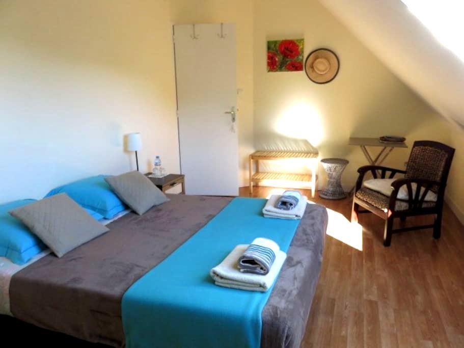 chambre spacieuse et calme centre Landerneau - Landerneau - 獨棟
