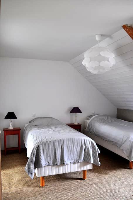 Chambre Océanie, rénovée en matériaux écologiques - Ploërmel - Casa cueva