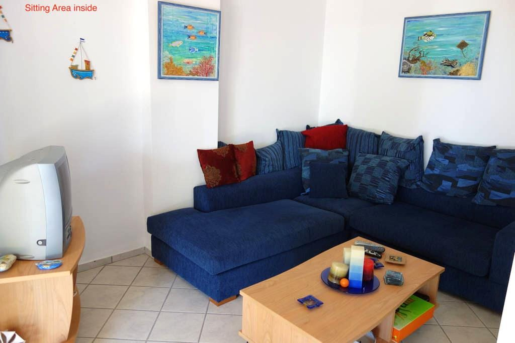 SeaFront 3,family-friendly Bungalow - Kato Sounio - Bungalow