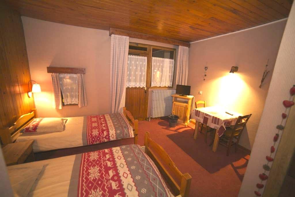 Chambre double Les Rodhos B&B - Val-d'Isère