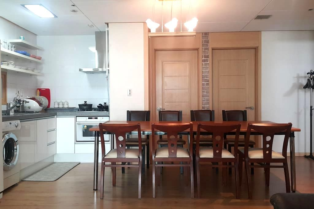 32평 Apt: Room3+Bath2+kitchen+living @subway - Seo-gu - Квартира