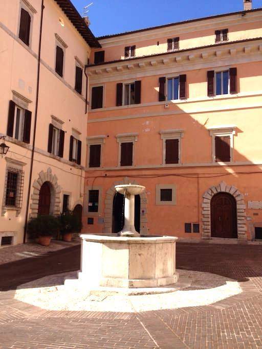 Frescoed one-room apt in Spoleto - Spoleto - Wohnung