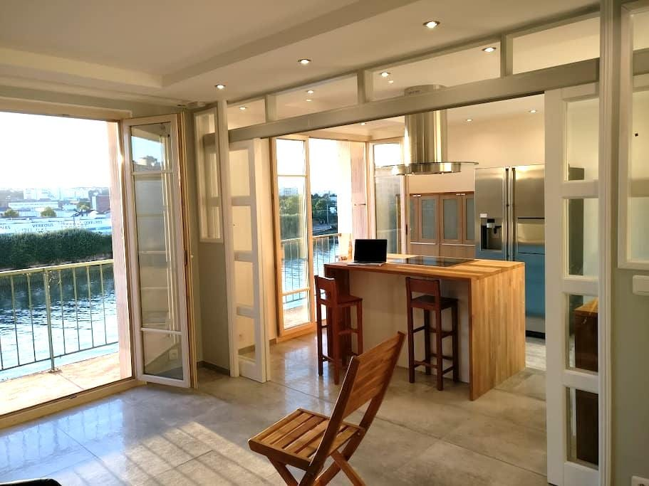 Flat 68m2 on Seine Border at 15min Orly and Paris - Choisy-le-Roi - Appartement