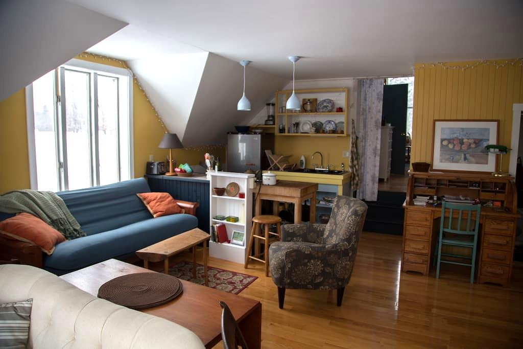 Cozy Hilltop farm apartment - Andover - Apartamento