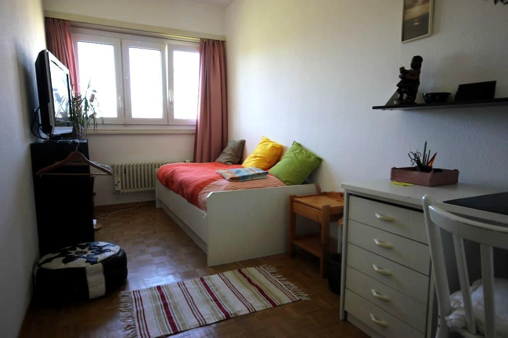 Cosy room in a spacious appartment - Versoix - Apartment