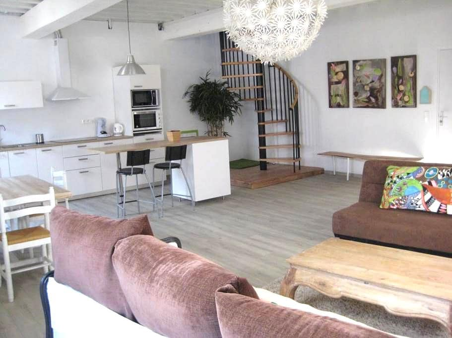 Bel appartement ensoleillé coeur de Saint Macaire - Saint-Macaire - 公寓