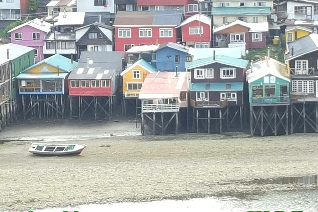 Palafito en Castro, Chiloe. - Castro
