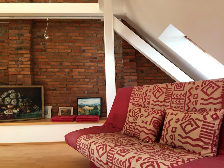 Vzdušný prostorný byt - České Budějovice - Appartement