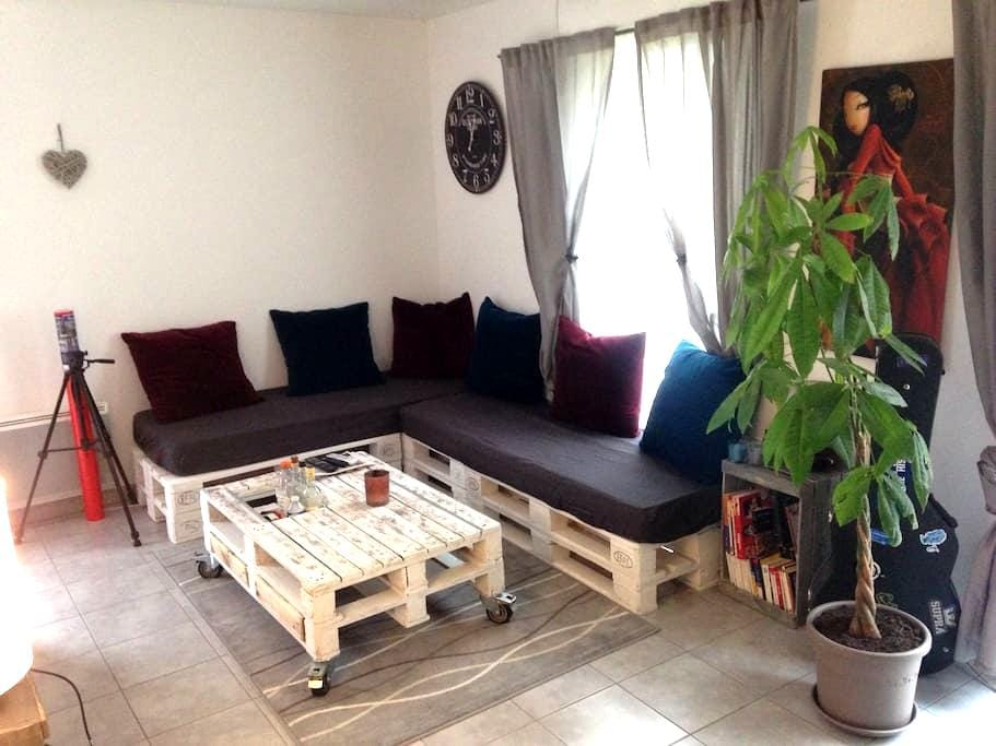 Moderne appartement à 5 minutes du centre de Rouen - Bonsecours - Ortak mülk