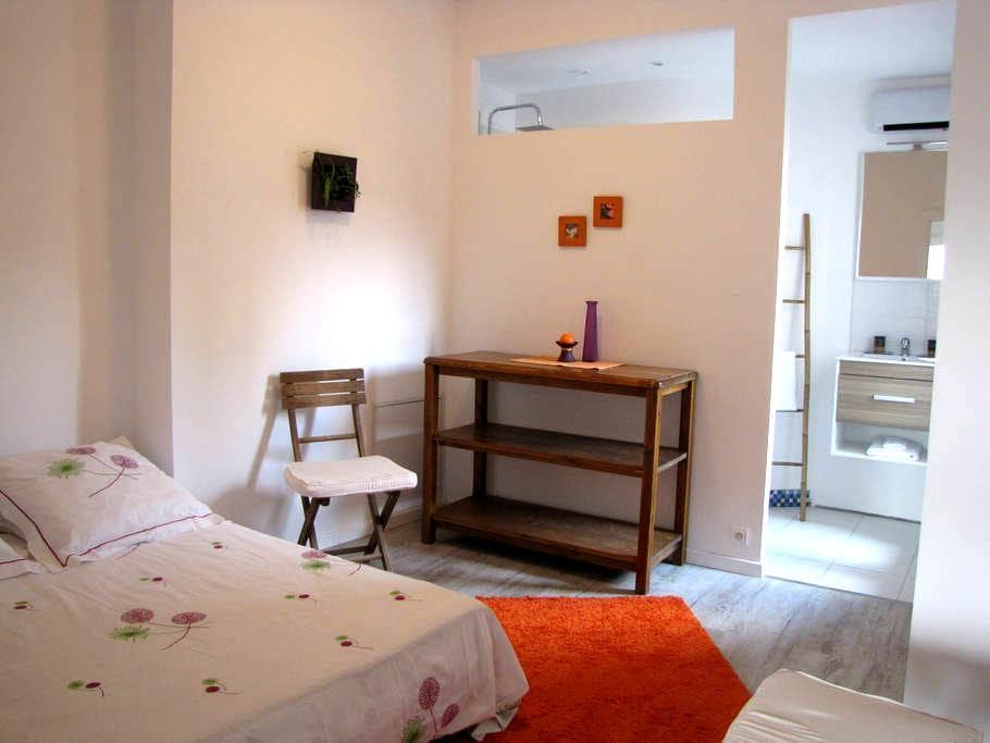 Chambre, salle de bain et cuisine privée - Aniane - Guesthouse