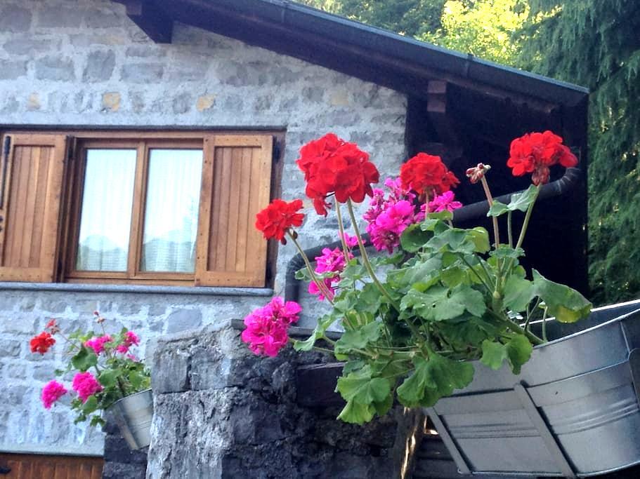 lago di como, casa con ampio giardino - Veglio