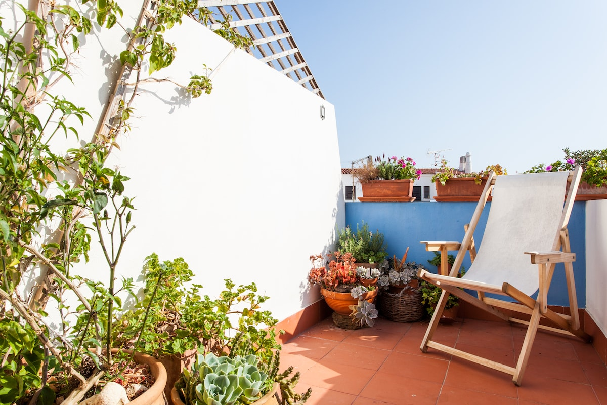and Your roof terrace, great for sunsets and evening drinks............
