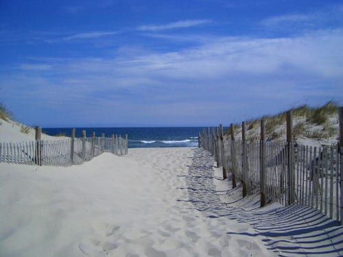 The beach entrance, 2 blocks up the street from the apartment, we provide you with 2 beach badges that save you $20 per day in beach fees.