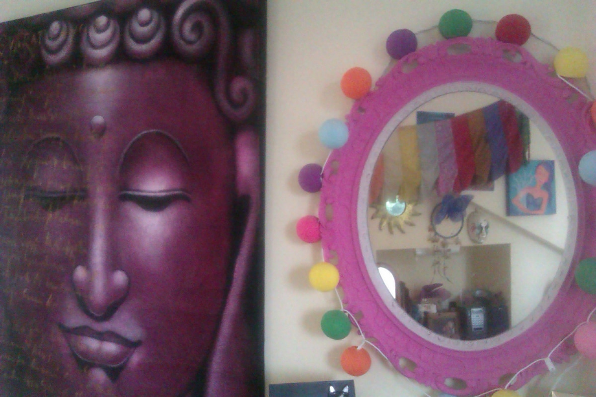 Asia art and quirky pieces make up our home