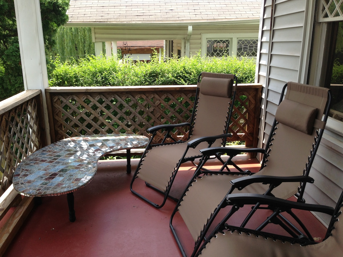 Relax on the porch.  Perfect for morning coffee or an afternoon beer.