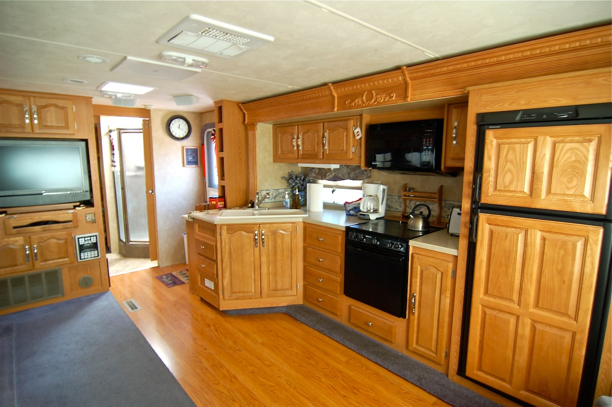 Spacious RV with private yard
