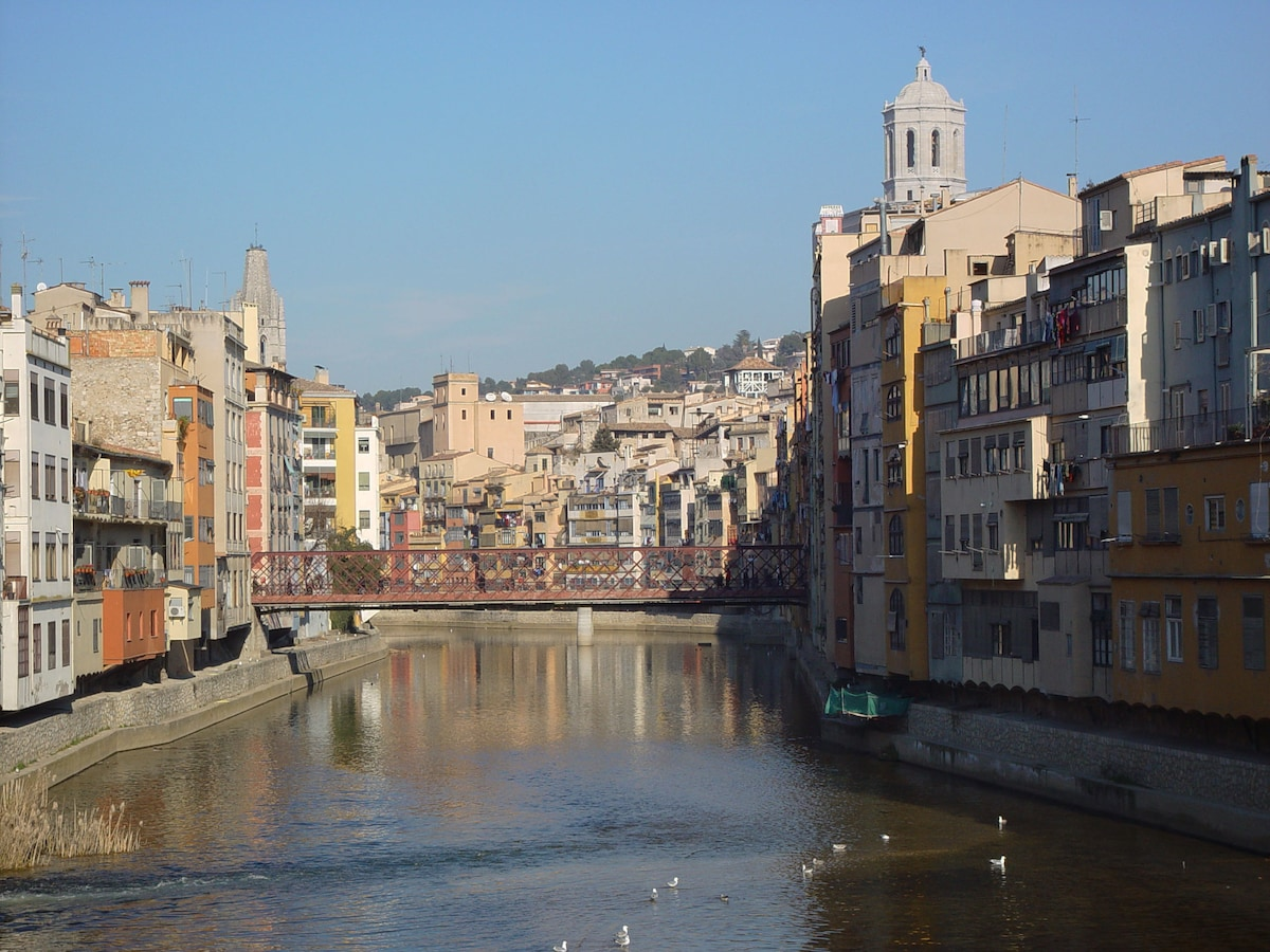 Girona a 9Km, un sueño de ciudad, con un barrio medieval Precioso