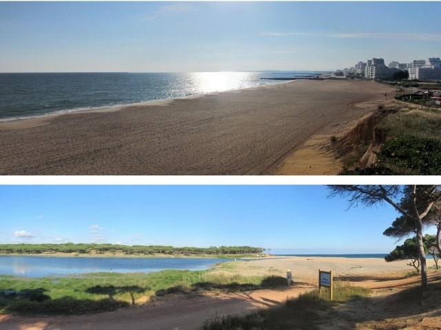 Enjoy the beach so close , and take a walk though the natural Almargem Pond