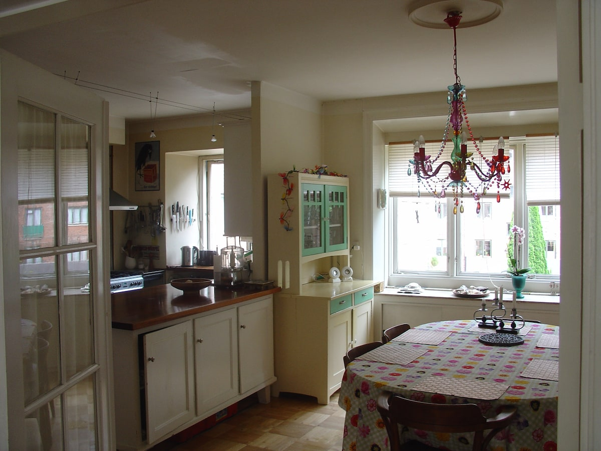 Kitchen/ dining area, view from living room