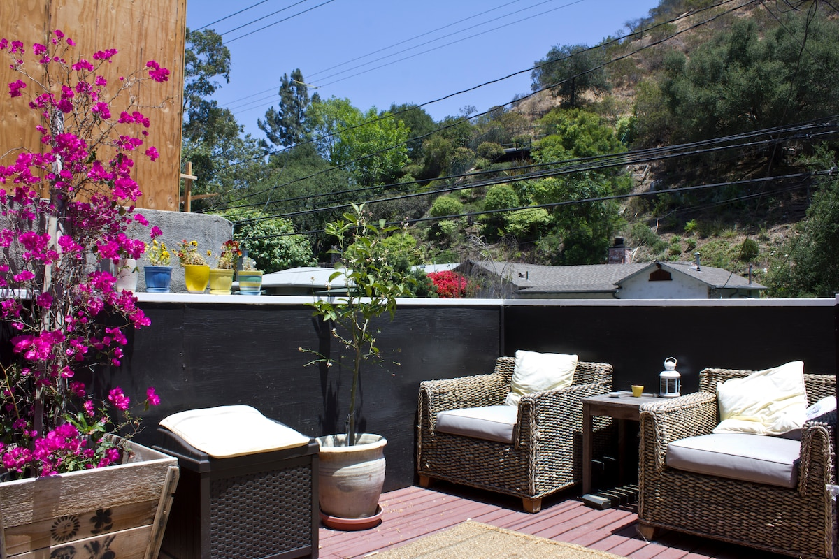 Main patio up front