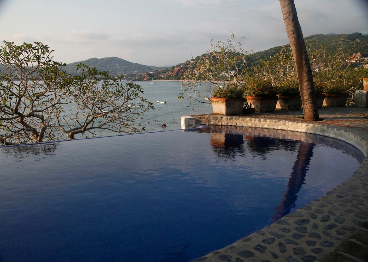 The infinity pool at Casa del Platero...a favorite place to watch the sunset.