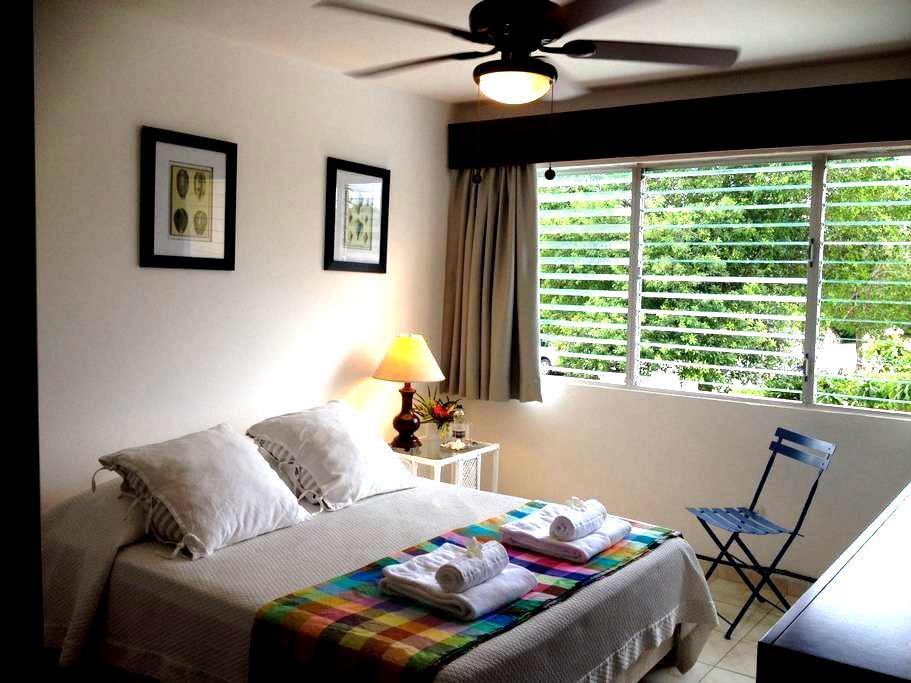 SEAFRONT: Quiet room in tropical nature -good WIFI - Punta Cana - Kondominium