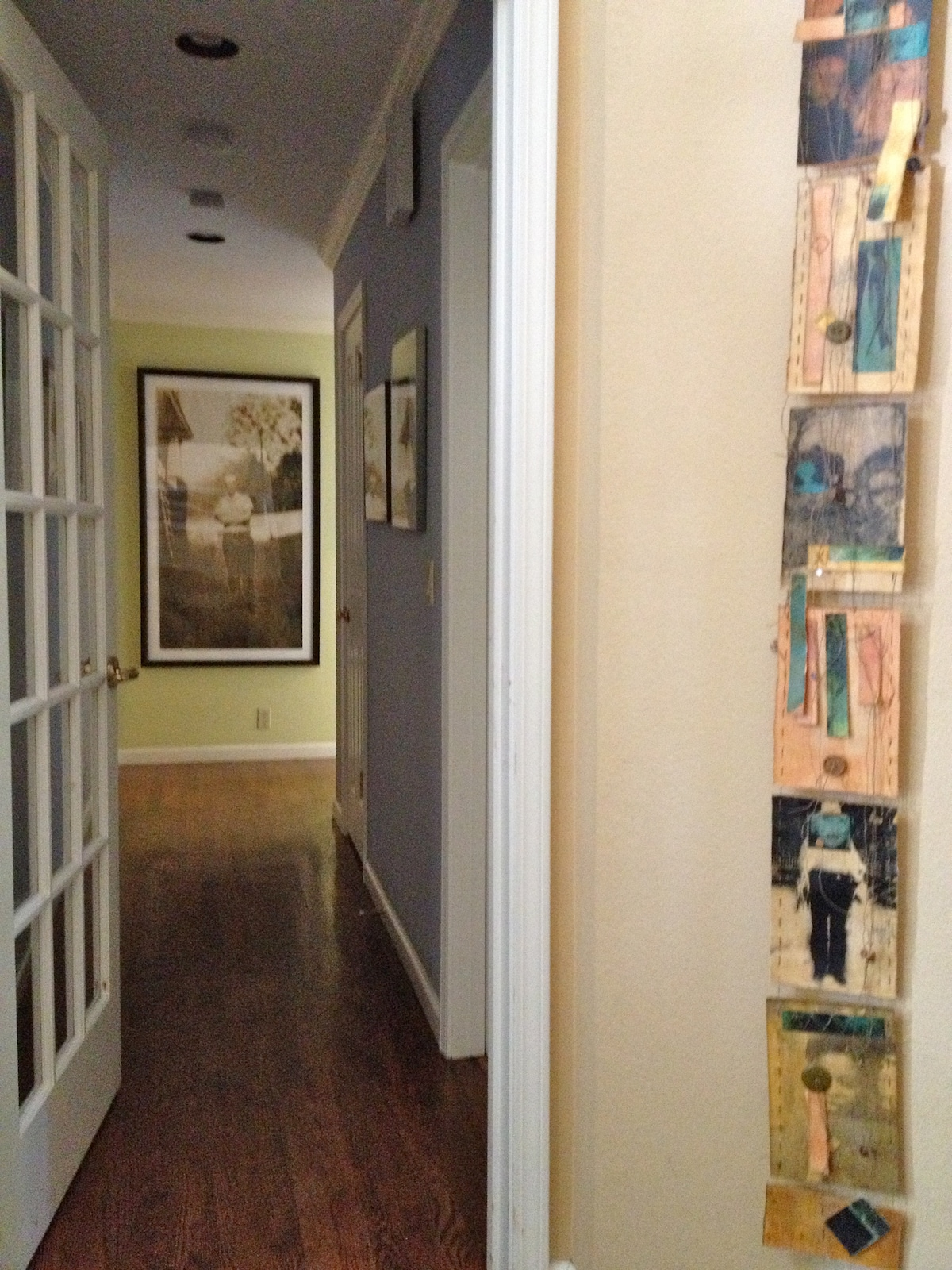 Take a left at the front door and here is the hallway with your bedroom and bath.