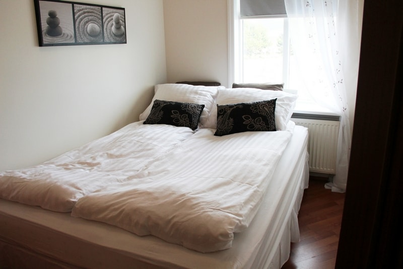 The bedroom with a queen-size comfortable bed.