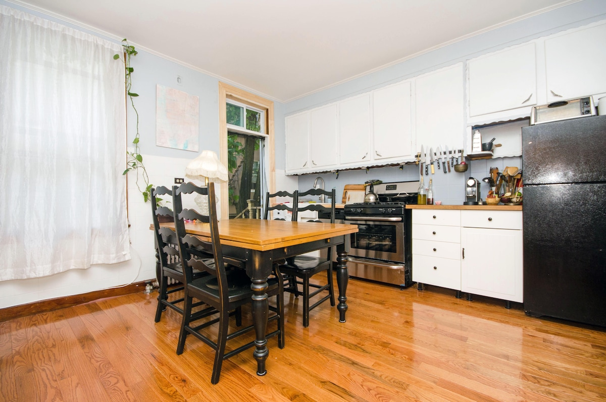 Great kitchen for cooking! We have a large table too!