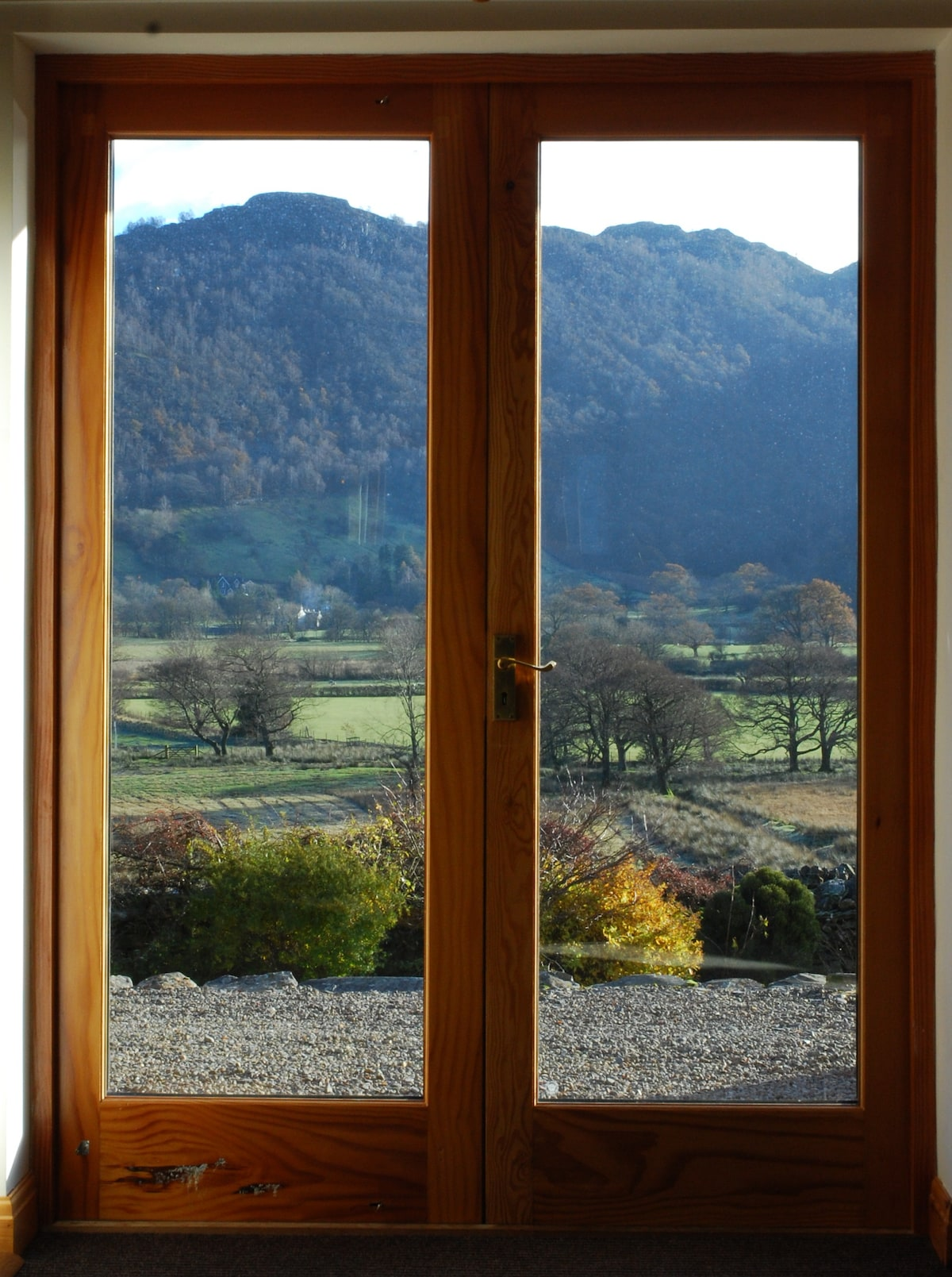 More of that great view from the French doors.