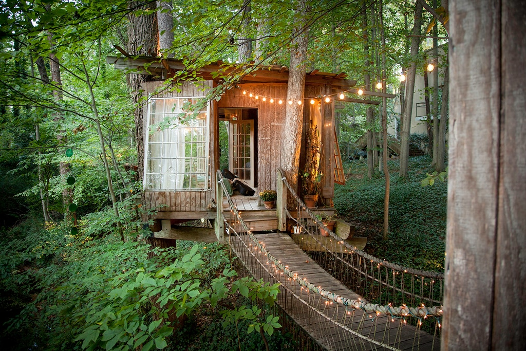 Tree House secluded intown treehouse - treehouses for rent in atlanta